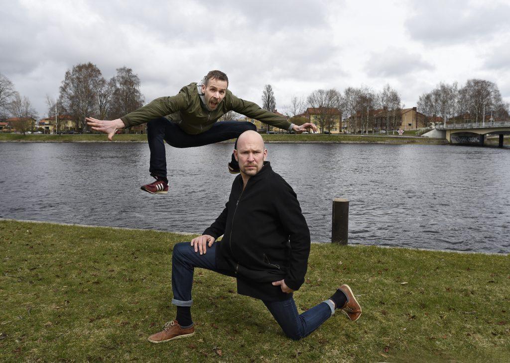 KARLSTAD SKÅDISARNA BJÖRN STARRIN OCH JOHAN ÖSTLING FÖR CAMING TIDNINGEN  FOTO TOMMY HOLL