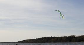 Testa kitesurfing i sommar