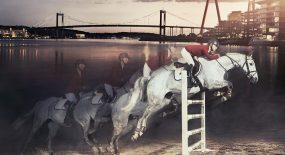 Hästar, hinder – och husbilar