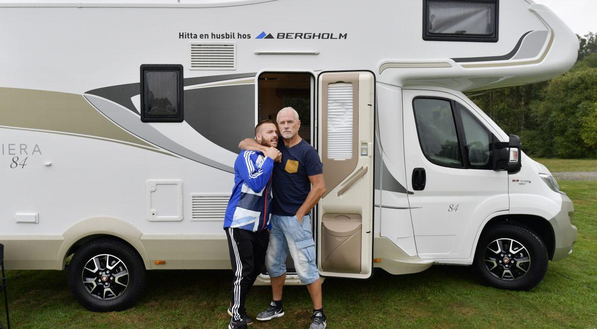 Stenungsund  Campingen  Glenn och Anton Hysen på Husbilsemester för inspelningen av kanal 5 dokusåpa Om familjen Hysen  Foto Tommy Holl IBL